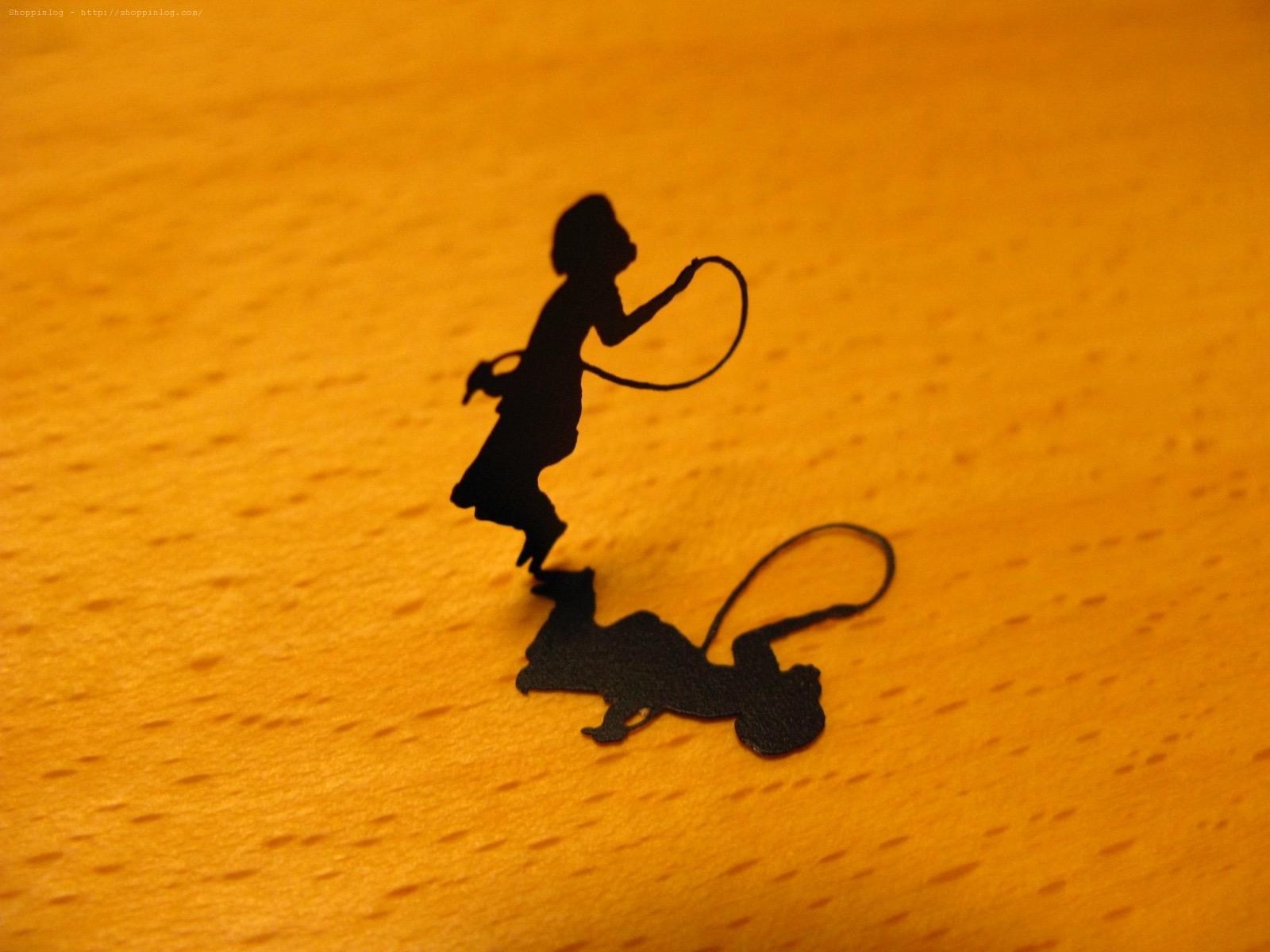 シルエット工場「縄跳びをする少女」