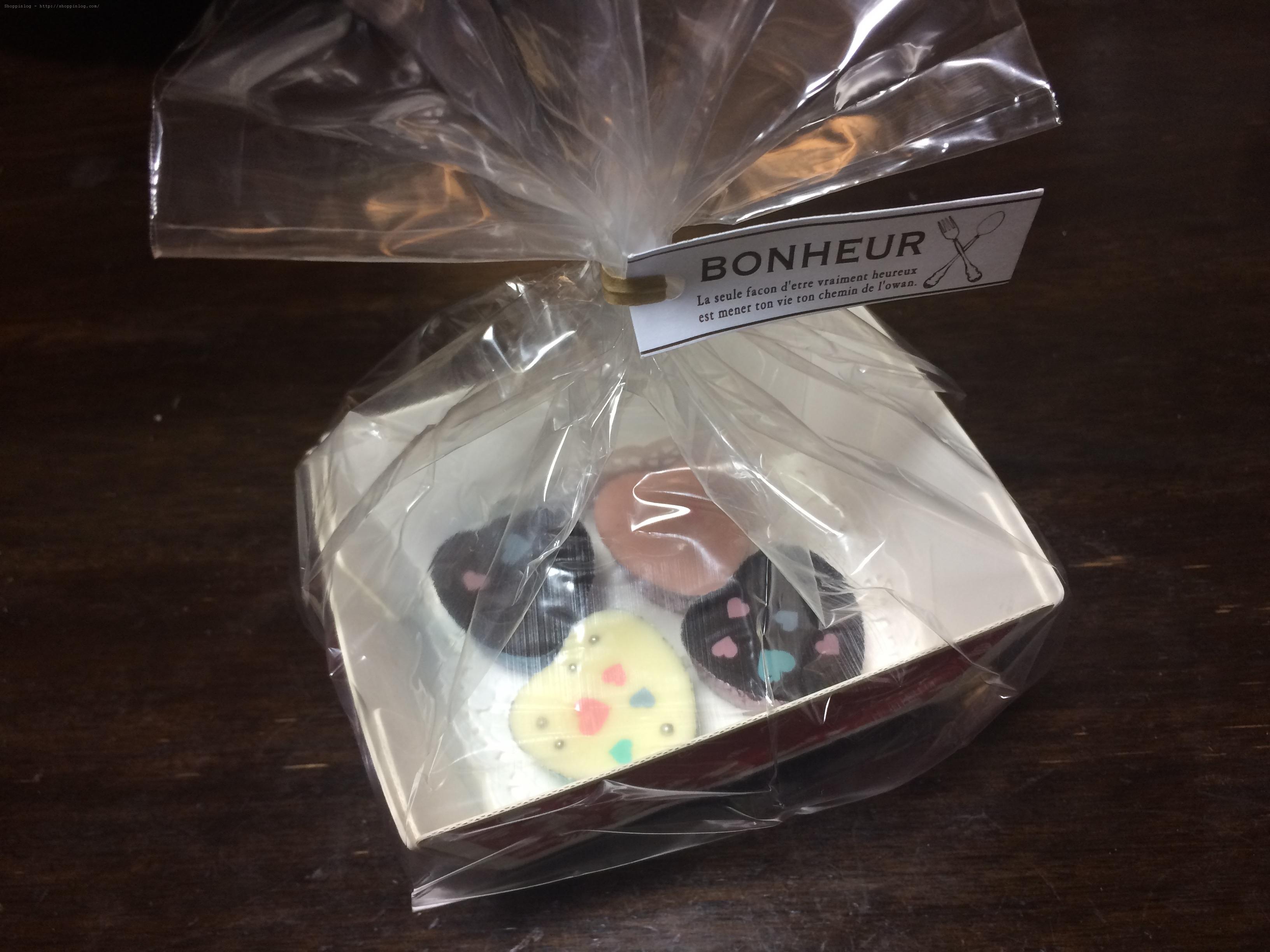 ミニトレーキットで包装したチョコレート